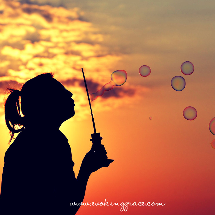 Our thoughts are just like bubbles