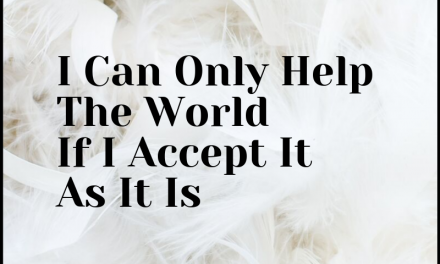 I Accept The World As It Is