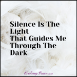 In Silence I Learn To See In The Dark